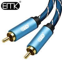 EMK Speaker RCA Audio Cable To RCA Digital Coaxial 1m 2m 3m Cable TV Amplifier