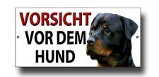 Vorsicht Vor Dem Hund Metal Signo. Beware Del Perro En German. Rottweiler Firmar