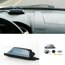 Car HUD Head Up Display Over Speed Warning OBD2 Speedometer Projector Safe