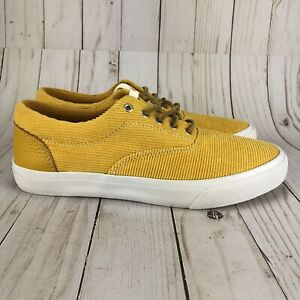 Sperry Top-Sider Mens Cloud CVO Deck Shoes Yellow Corduroy STS22351 Size 7.5