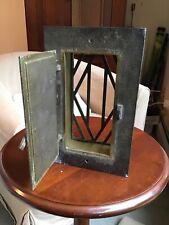 Vintage Brass Door Knocker Peep Hole Hatch Antique Speakeasy Safety View Window~