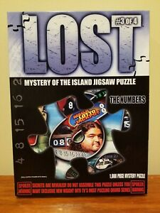 """ABC's LOST 1000pc Mystery of the Island Jigsaw Puzzle #3 The Numbers 19"""" x 26"""""""
