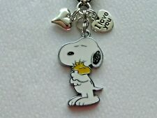PEANUTS SNOOPY WOODSTOCK LOVE  KEYCHAIN PURSE CLIP BAG CHARM BACKPACK CHARM FOB