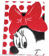 Disney Store Minnie Mouse Journal Diary Red Bow Polka Dots New
