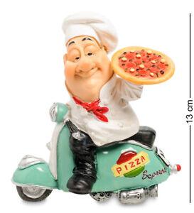 "The Comical World of Warren Stratford Figurine RV-942 ""Chef Pizza Maker"" 13cm"
