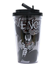 Marvel Comics VENOM 16oz Insulated FLIP-STRAW TUMBLER w/Lid