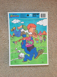 Vintage My Pet Monster Picnic Golden Frame Tray Puzzle 1986 Complete Football