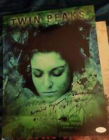 "DAVID LYNCH +SHERYL LEE Hand-Signed""TWIN PEAKS Laura Palmer""11x14 Photo(JSA COA)"