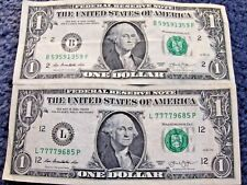 LOT OF TWO ONE DOLLAR NOTES WITH CRAZY SERIAL NUMBERS!