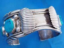 Vintage Old Pawn  Navajo Bracelet   Turquoise   Sterling Silver 925