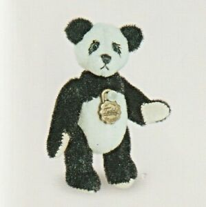 Teddy Hermann fully jointed collectable miniature panda bear in gift box 157656