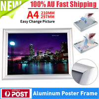 21*30cm A4 Aluminum Snap Poster Frame Sign Holder Wall Mount Easy Replace Photo