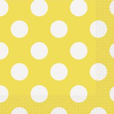 PARTY TABLEWARE PAPER NAPKINS SOLID COLOUR / STRIPE / DOTS / CHEVRON DESIGN