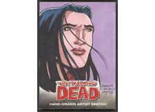 WALKING DEAD COMIC BOOK CARDS SKETCH BY TRAVIS WALTON  150045