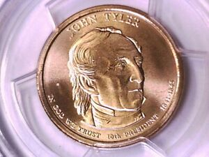 2009 D John Tyler Dollar PCGS SP 68 Satin Finish Position B 15428519