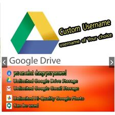 Google Drive Unlimited Storage Account lifetime Preset