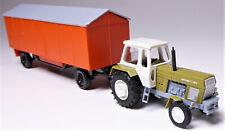 H0 BUSCH Traktor Fortschritt ZT 300-D grün + Bauwagen A 8 orange DDR Bau # 42844