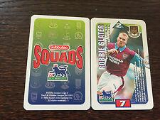 Subbuteo Squads 1996 Trading Card: West Ham United - ROBBIE SLATER