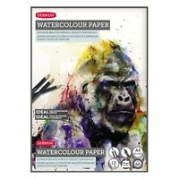 Derwent Watercolour Paper Pad Book 12 x White Acid Free Sheets - A3, A4 or A5