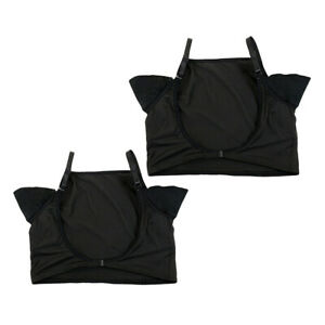 2 Pack T-Shirt Underarm Sweat Shield Pads w/Adjustable Strap Absorbing