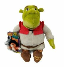 "DreamWorks Shrek Special Edition Macy's 2007 Plush 18"" Donkey Puss Puppets NWT"