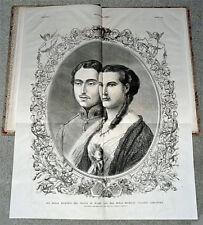 Royal Wedding EDWARD VII & ALEXANDRIA 1863 Newspapers
