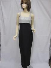 St. John EVENING Black White NWOT Paillettes Dress SZ 8
