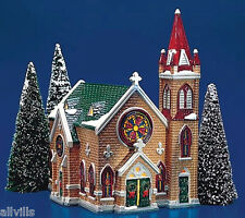 MOUNT OLIVET CHURCH 5442-9 Retired Dept 56 Snow Village Stained Glass window