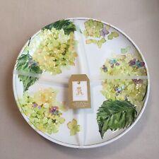 Rachel Ashwell Hydrangea Floral MELAMINE Embossed DINNER Plates (SET OF 4)
