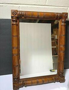 "VTG SOLID WOOD DETAILED FRAMED Trutype Americana  Dresser Wall Mirror 18"" X 24"""
