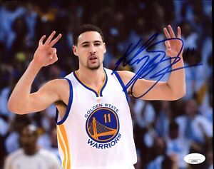 Klay Thompson Signed 8x10 Photo Golden State Warriors JSA GSC