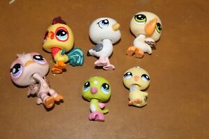 Littlest Pet Shop Lot of 6 Birds Authentic FREE SHIPPING Lot # 2