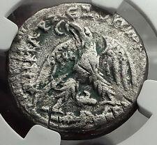 MACRINUS 218AD Caesarea Maritima JUDAEA Silver Tetradrachm Roman Coin NGC i59081