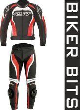 Tute in pelle e altri tessuti due pezzi rosso per motociclista