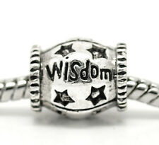 Wisdom Inspirational Word Graduate Star Spacer Charm for European Bead Bracelets