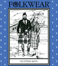 Folkwear Scottish Kilt, Prince Charlie Jacket, Vest, Socks Sewing Pattern # 152