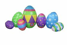 8 Foot Long LED Air Blown Inflatable Colorful Easter Egg Yard Decoration Decor