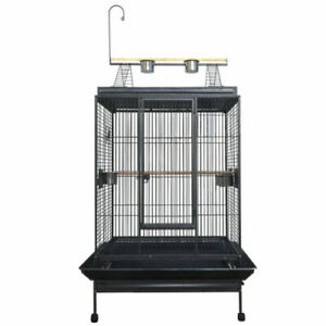 XX-Large 223cm Black Vein Macaw Parrot Aviary Bird Cage Perch With Gym On Wheels