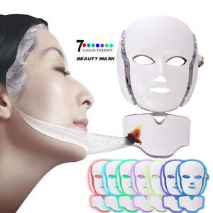 7Color LED Photon Face Mask Skin Rejuvenation Wrinkle Acne Beauty Facial Machine