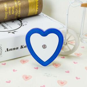Cartoon Heart Shaped LED Night Light Plug-in Socket Lamp Sensing Bedroom Lights