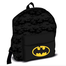 Oficial Batman Roxy Chicos Niños gran bolsillo delantero Mochila Bolso Escolar