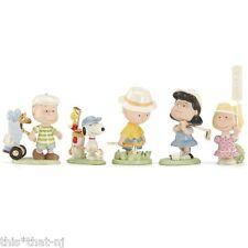 Lenox Peanuts Snoopy 5-Piece Golf Figurine Set MSRP $217 New in Box