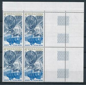 [G43803] Wallis & Futuna 1987 submarine Good airmail block of 4 VF MNH stamps