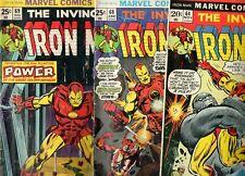 Iron Man #64, 68 & 69 MANDARIN, SUNFIRE, ULTIMO, YELLOW CLAW! 1973-74 VG/Fn 5.0
