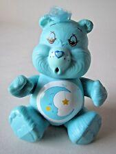 "Vtg 1980s Care Bears Blue Moon Bedtime Bear Blue Poseable 3"" PVC EUC"