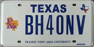 USA Nummernschild - TEXAS PRAIRIE VIEW A&M UNIVERSITY - US COLLEGE FOOTBALL