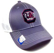 GREY GHOST UNIVERSITY OF SOUTH CAROLINA GAMECOCKS MESH TRUCKER SNAPBACK HAT CAP