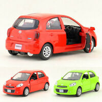 1/36 Scale Nissan March Model Car Metal Diecast Toy Vehicle Pull Back Kids Gift