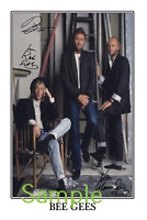 The Bee Gees - Barry Robin Maurice Gibb large signed 12x18 inch photograph