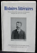 Revue Histoires littéraires n° 16  2003 Du Lérot NM  Dossier Maupassant